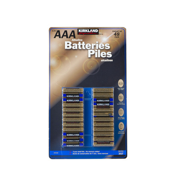 Kirkland Signature Alkaline AAA Batteries - 48 Pack