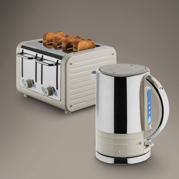 Dualit Architect Kettle and Toaster Set in Oyster White