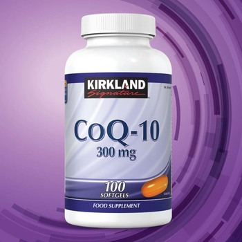 Kirkland Signature CoQ-10 300mg, 100 Capsules (3 Months Supply)