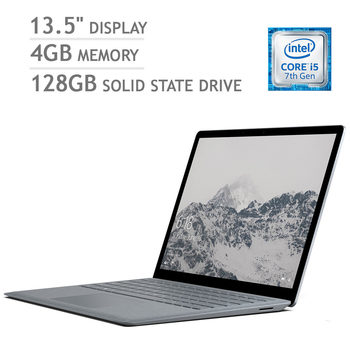 Microsoft Surface Laptop, Intel Core i5, 4GB RAM, 128GB Solid State Drive 13.5 Inch Notebook in Platinum