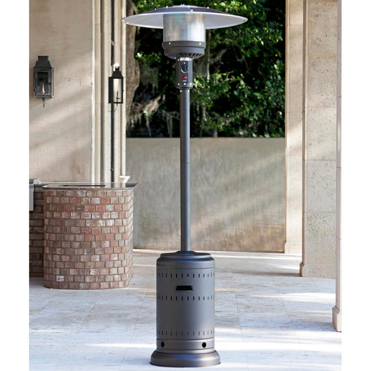 Amazing FireSense Gas Mocha 46,000 BTU Commercial Patio Heater