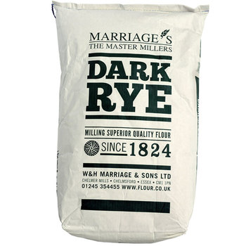 Marriage's Dark Rye Wholemeal Flour, 16kg