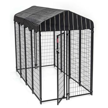 Outdoor Kennel with Weatherproof Cover, 7.8 L x 3.9 W x 5ft H (2.4 L x 1.2 W x 1.52m H)