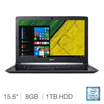 Acer Aspire 5 A515-51, Intel Core i5, 8GB RAM, 1TB HDD, 15.6 Inch Notebook