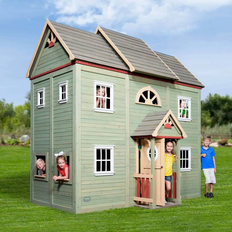 Backyard Discovery Victorian Mansion Cedar Two Storey Playhouse (2 10 Years)