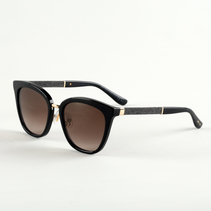 ad9bc89215fd Jimmy Choo Black Sunglasses with Brown Lenses