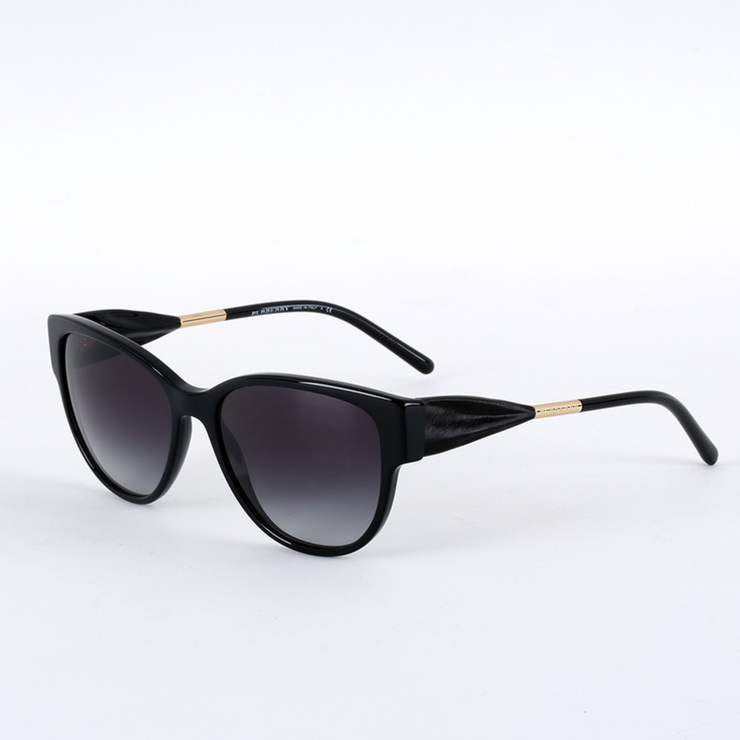 Burberry Gabardine Collection Black Sunglasses with Grey Lenses ...