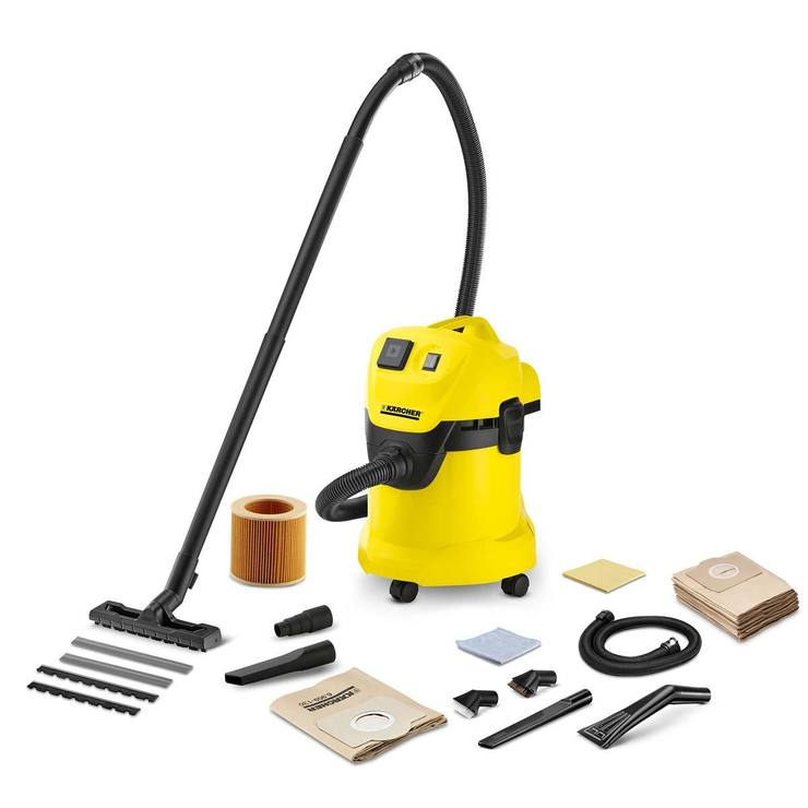 Karcher WD3P Wet And Dry Vacuum Cleaner With Car Kit