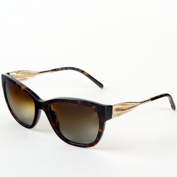 Burberry Gabardine Collection Havana Sunglasses with Polarised Brown Lenses, BE4203 3002/T5
