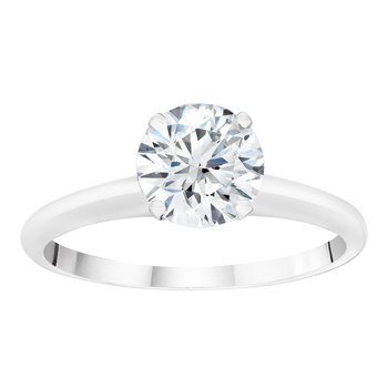 1.50ct Round Brilliant Cut Diamond Solitaire Platinum Ring