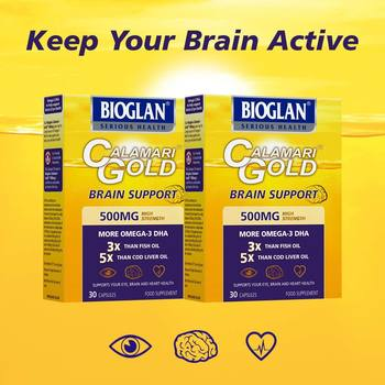 Bioglan Calamari Gold 500mg, 2 x 30 Capsules (1 Months Supply)