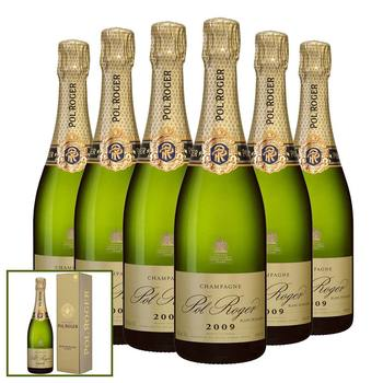 Pol Roger Blanc de Blancs 2009, 6 x 75cl with Gift Boxes
