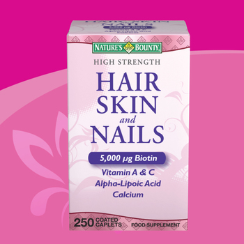 Nature's Bounty High Strength Hair, Skin & Nails Food Supplement, 250 Coated Caplets (3 Months Supply)