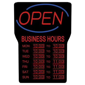 Royal Sovereign RSB-1342E LED Open Sign with Opening Times