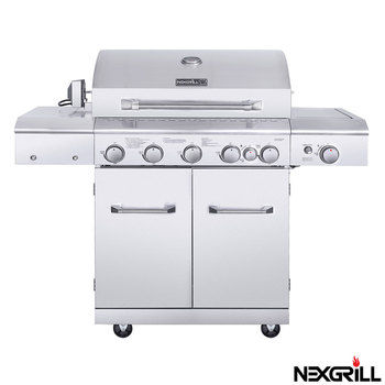 Nexgrill 6 Burner 304 Grade Stainless Steel Gas BBQ Grill + Side Burner + Rotisserie Kit + Cover