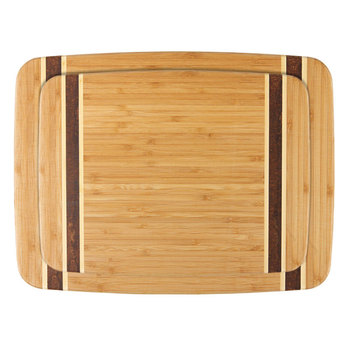 Dexas Bamboo Chop & Serve Cutting Boards, 2 Pack