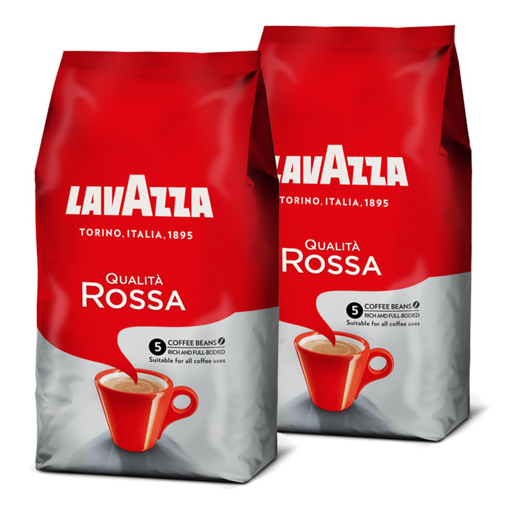 Lavazza Qualita Rossa Coffee Beans 2 X 1kg Costco Uk