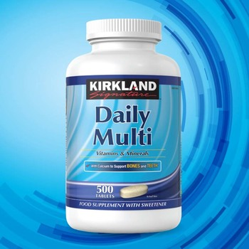 Kirkland Signature Daily Multivitamins & Minerals, 500 Tablets (16 Months Supply)