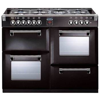 Stoves Richmond 1100DFT Dual Fuel Range Cooker 183 Litre in Black