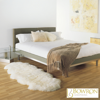 Bowron Longwool 100% Sheepskin Double Rug in 5 Colours