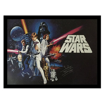Dave Prowse Signed Framed Darth Vader Star Wars 'A New Hope' Film Poster