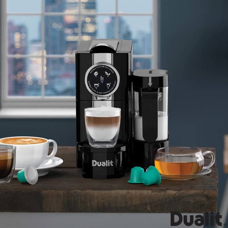 dualit caf cino capsule coffee machine 85180 costco uk. Black Bedroom Furniture Sets. Home Design Ideas