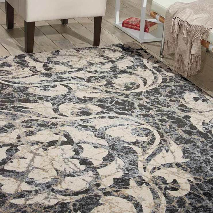 Twilight Rug In Ivory Charcoal 224 X 160cm