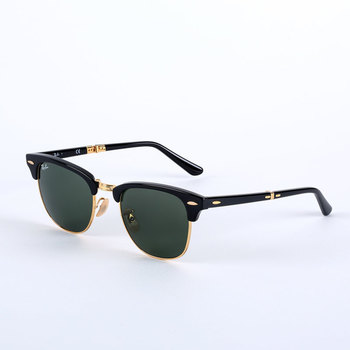 Ray-Ban Black Sunglasses with Green Lenses, RB2176 901