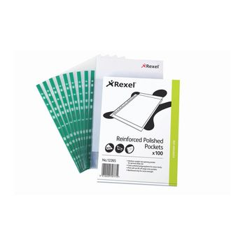 Rexel A4 Plastic Pockets - Pack of 100