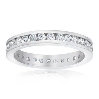 1.00ctw Round Brilliant Cut Channel Set Diamond Eternity Ring in 6 Sizes