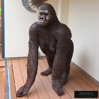 Pangea 4ft (121.9cm) Gorilla Ornamental Metal Structure - Life Size