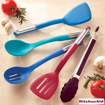 KitchenAid Silicone Utensils, 5 Piece Set