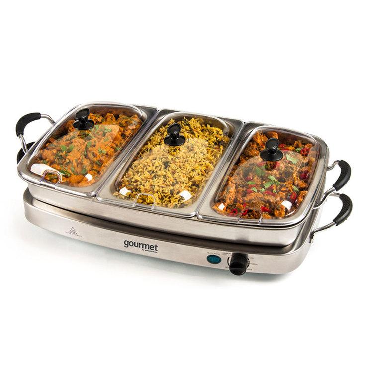 sensiohome gourmet 6 4l buffet server and warming tray costco uk rh costco co uk buffet warming trays for rent buffet warming tray canada