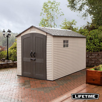 Lifetime 7ft x 12ft (2.1 x 3.6m) Outdoor Storage Shed with Windows