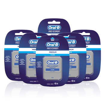 Oral-B Pro-Expert Premium Cool Mint Floss, 6 x 40m