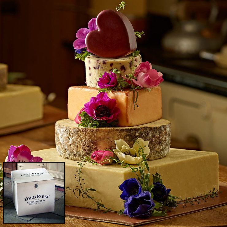 Amethyst Cheese Wedding Cake: The Dorset 5-Tier Cheese Celebration Cake, 10kg (Serves