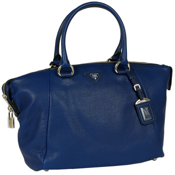 Prada Calf Leather Handbag, Ink Blue