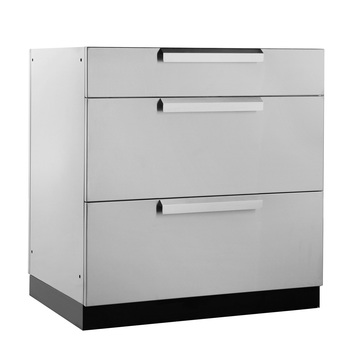 "NewAge Outdoor Kitchen 18 Gauge Stainless Steel 32"" (81.3cm) 3-Drawer Cabinet"