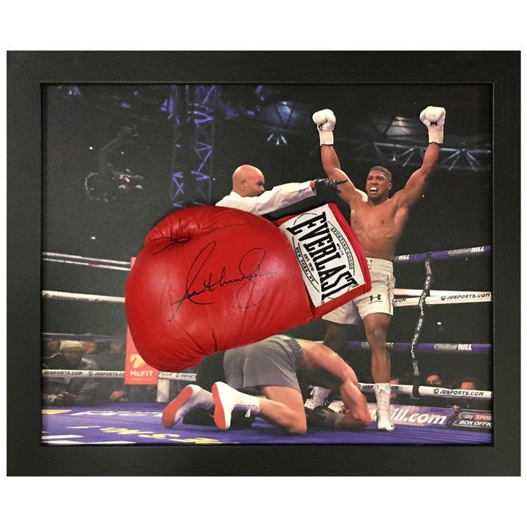 de4147501df Anthony Joshua Signed Framed Everlast Boxing Glove