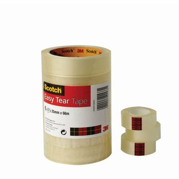 Scotch 8pk 19mm x 33m Clear Easy Tear Tape