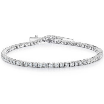 3.00ctw Round Brilliant Cut Diamond Bracelet, 18ct White Gold