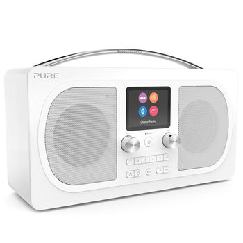 Pure Evoke H6 Prestige Edition Digital DAB+/FM Radio with Bluetooth in White