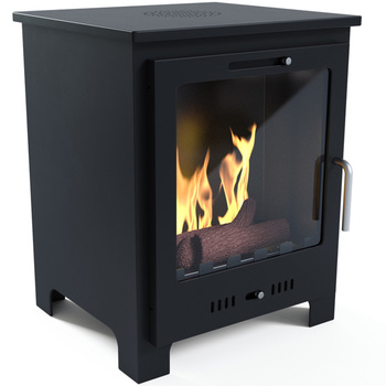Imagin Fires Malvern Bio-Ethanol Real Flame Fireplace + Ceramic Logs + 6 x 1L Fuel