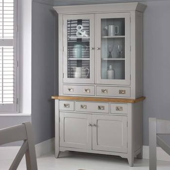 Bordeaux Painted Light Grey Wooden Dresser