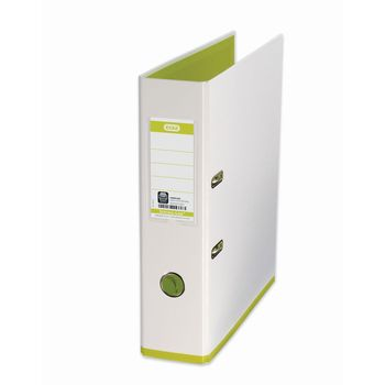 Elba MyColour A4 80mm White/Lime Lever Arch File