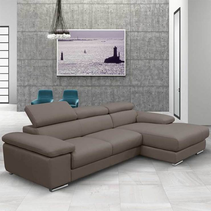 Costco Living Room Chairs: Nicoletti Lipari Taupe Italian Leather Sofa Chaise