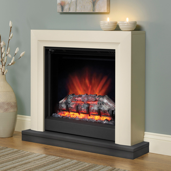 BeModern Perthshire Electric Fireplace Suite in Ivory