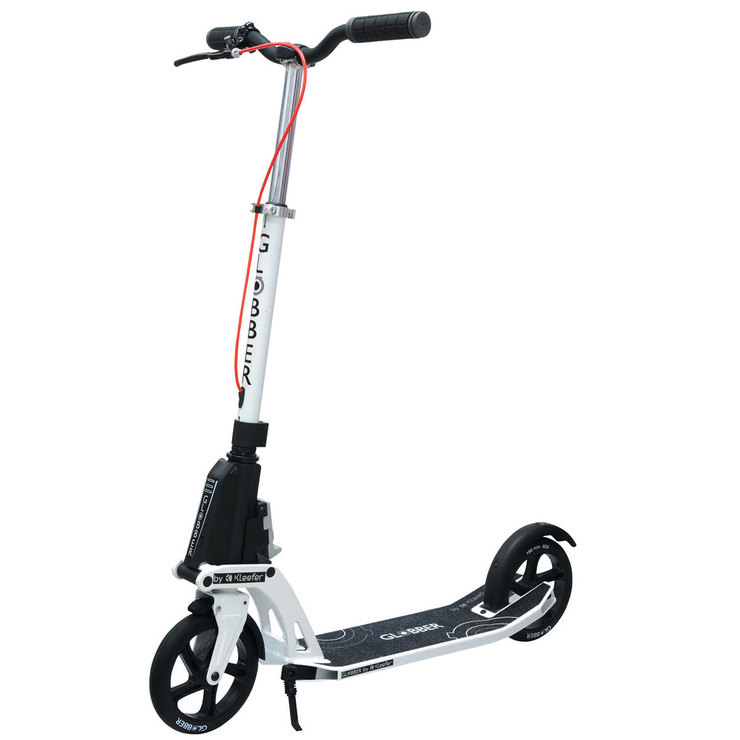 Globber One K Active Adult Scooter With Brakes In White Costco Uk