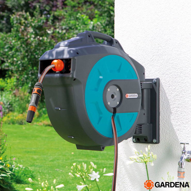 Extreem Gardena Wall-Mounted 114.8ft (35m) Hose Box with Automatic Roll FC39