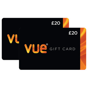 £40 Vue Cinema Gift Cards Multipack (2 x £20)